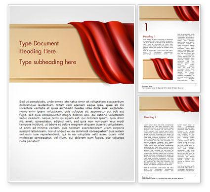 Drapery Word Template, 14854, 3D — PoweredTemplate.com