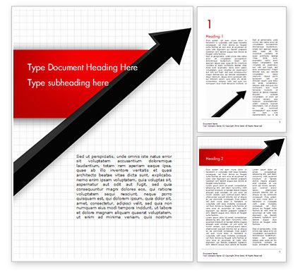 Diagonal Arrow Word Template