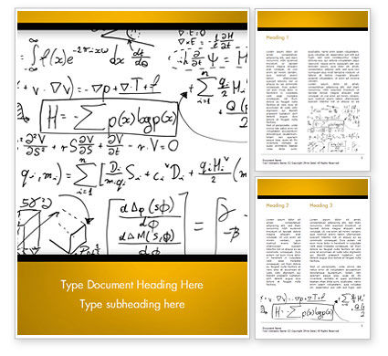 Math Education Background Word Template, 14873, Technology, Science & Computers — PoweredTemplate.com