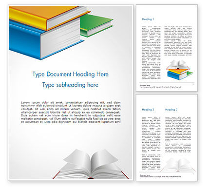 Books Word Template, 14906, Education & Training — PoweredTemplate.com