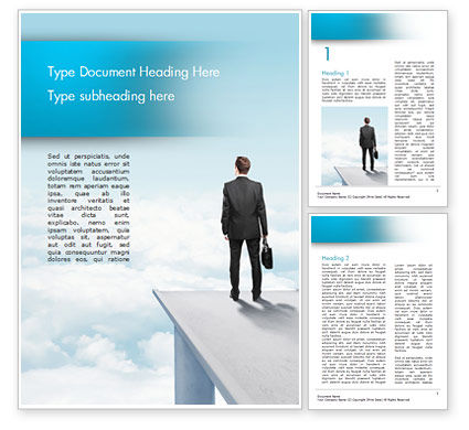 Businessman Standing on Pier Word Template, 14907, Business Concepts — PoweredTemplate.com