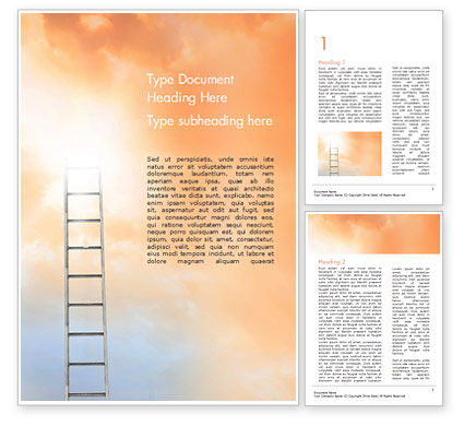 Ladder to The Sky Word Template, 14919, Religious/Spiritual — PoweredTemplate.com