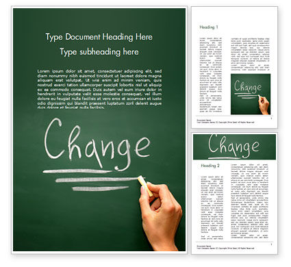 Education & Training: Blackboard Concept for The Word Change Word Template #14924