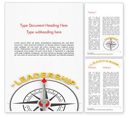 Leadership Compass Concept Word Template, 14947, 3D — PoweredTemplate.com