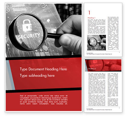 Information Data Security Concept Word Template, 14950, 3D — PoweredTemplate.com