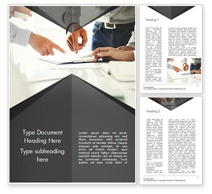 Consultation Word Template, 14954, Business Concepts — PoweredTemplate.com