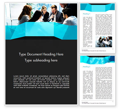 Group of Business People Working Together Word Template, 14960, Business — PoweredTemplate.com