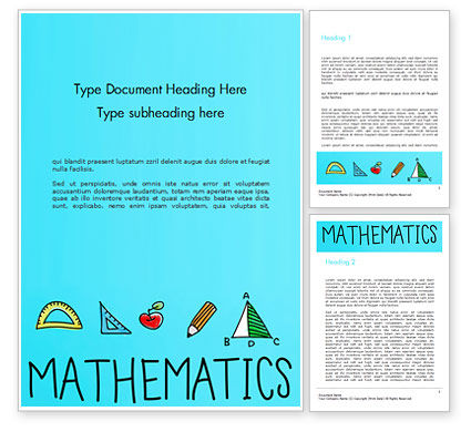 Mathematical Doodles Word Template, 14968, Education & Training — PoweredTemplate.com