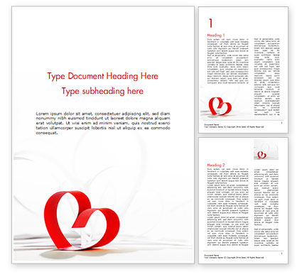 Paper Hearts for Valentines Day Word Template, 14971, Holiday/Special Occasion — PoweredTemplate.com