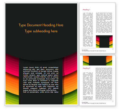 Bright Gradient Semicircles Word Template, 14972, Abstract/Textures — PoweredTemplate.com
