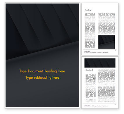 Abstract Black Origami Paper Word Template, 14980, Abstract/Textures — PoweredTemplate.com