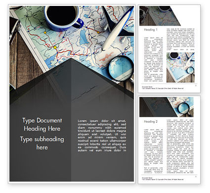 Travel Planning Word Template, 14989, Holiday/Special Occasion — PoweredTemplate.com