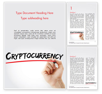 A Hand Writing Cryptocurrency with Marker Word Template, 15004, Business Concepts — PoweredTemplate.com
