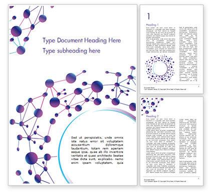 Abstract/Textures: Abstrakte purpurrote molekulare struktur Word Vorlage #15020