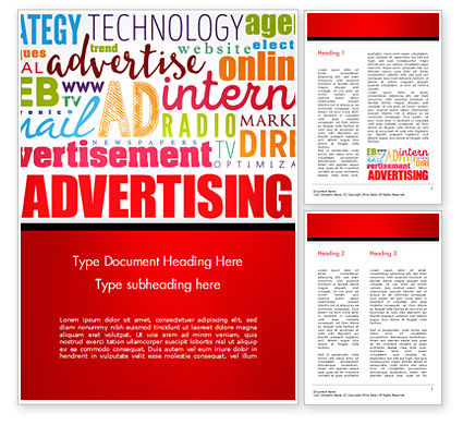 Advertising Word Cloud Collage Word Template, 15030, Careers/Industry — PoweredTemplate.com