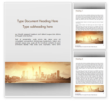 Construction: City Skyline Photo Word Template #15035