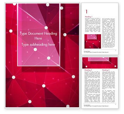 Abstract/Textures: Modèle Word de points connectés sur fond rouge #15036