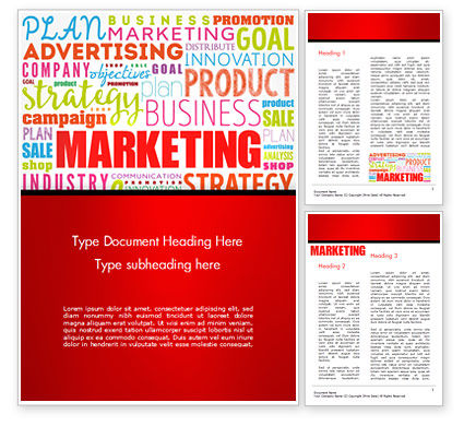 Careers/Industry: Marketing Strategy Word Cloud Word Template #15059