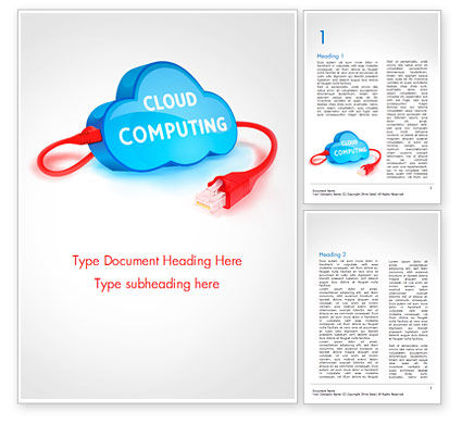 Cloud Computing Concept Word Template, 15087, Technology, Science & Computers — PoweredTemplate.com