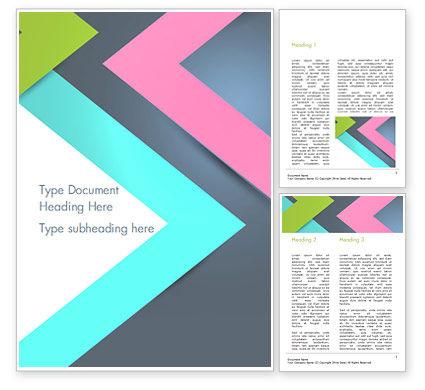 Abstract/Textures: Abstrakte schneidkanten Word Vorlage #15088