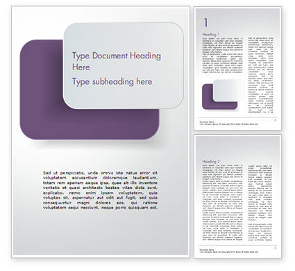 Rounded Rectangles Word Template, 15091, Abstract/Textures — PoweredTemplate.com
