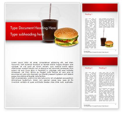 Fast Food Illustration Word Template, 15095, Food & Beverage — PoweredTemplate.com