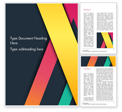 Bright Lines on Dark Background Word Template, 15096, Abstract/Textures — PoweredTemplate.com
