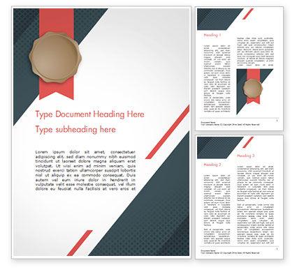 Abstract/Textures: Zertifikat mit modernem muster Word Vorlage #15103