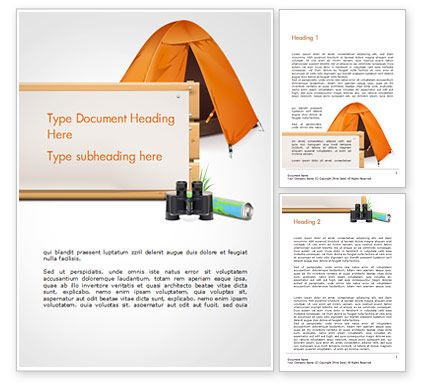 3D: Tent Word Template #15113