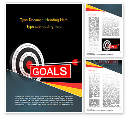 Business Concepts: Goals Word Template #15124