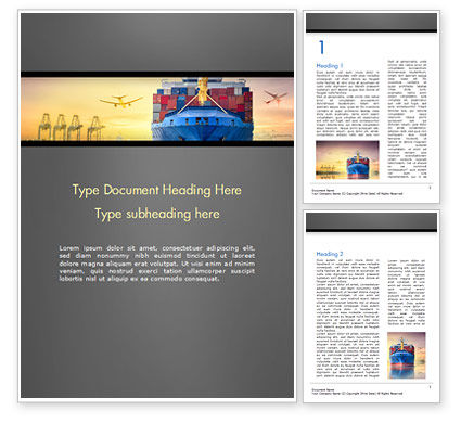 Careers/Industry: Shipping and Freight Forwarding Word Template #15132