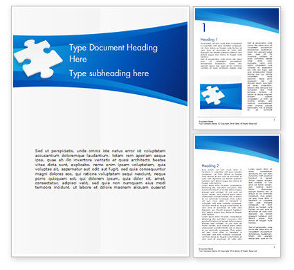 Piece of White Puzzle Word Template, 15139, Business Concepts — PoweredTemplate.com