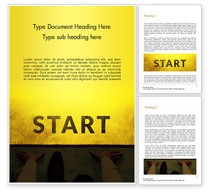 Businessman Standing in Start Position Word Template, 15145, Business Concepts — PoweredTemplate.com