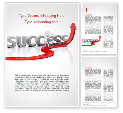 Concept of success and 3D Man Word Template, 15147, Business Concepts — PoweredTemplate.com