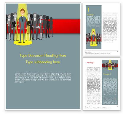 Choosing Worker Word Template, 15154, Careers/Industry — PoweredTemplate.com