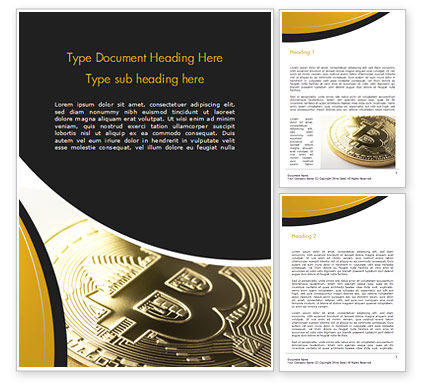 Bitcoin Coin Word Template, 15164, Technology, Science & Computers — PoweredTemplate.com