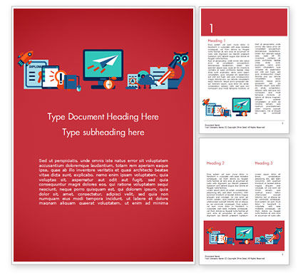 Online Education Concept Word Template, 15172, Education & Training — PoweredTemplate.com