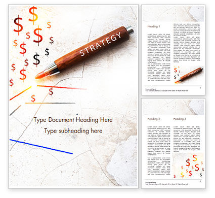 Inscription Strategy on Pencil Word Template, 15174, Business Concepts — PoweredTemplate.com