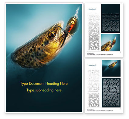 Pike Fishing Word Template, 15184, Sports — PoweredTemplate.com