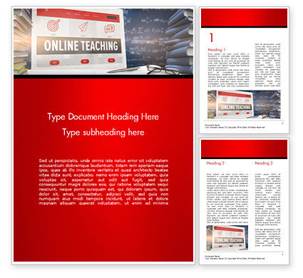 Education & Training: Online Teaching Word Template #15186