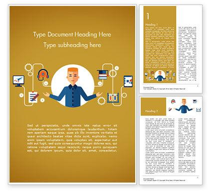 Self Education Word Template, 15191, Education & Training — PoweredTemplate.com