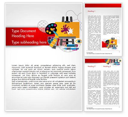 Creativity Word Template, 15193, Art & Entertainment — PoweredTemplate.com