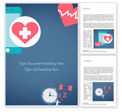 Health Applications Word Template, 15205, Medical — PoweredTemplate.com