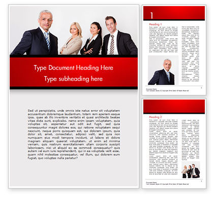 Business Team Word Template, 15212, 3D — PoweredTemplate.com