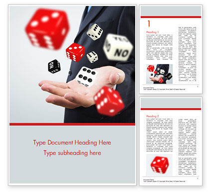 Gambling Concept Word Template, 15215, Business Concepts — PoweredTemplate.com