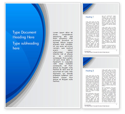 Abstract Blue Semicircle Word Template, 15226, Abstract/Textures — PoweredTemplate.com