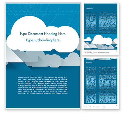 Nature & Environment: Paper Clouds Word Template #15230