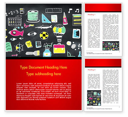 Extracurricular Activities Word Template, 15245, Education & Training — PoweredTemplate.com