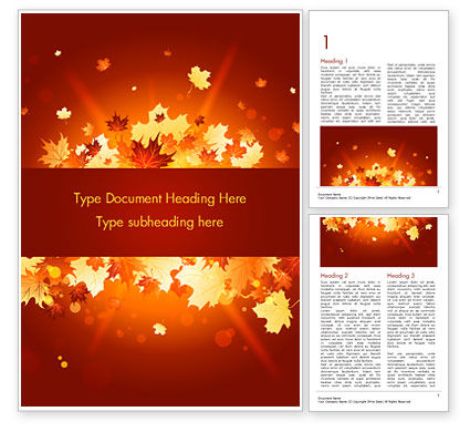 Bright Sunny Autumn Word Template, 15247, Nature & Environment — PoweredTemplate.com