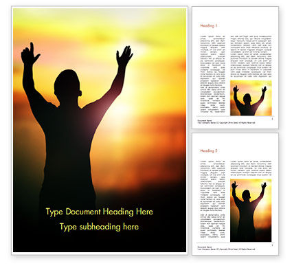 Religious/Spiritual: Sunrise Prayer Word Template #15258